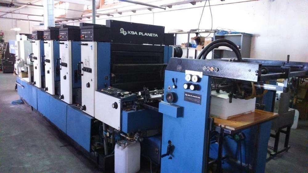 Impresora KBA 72 de 4 colores Año 1996
