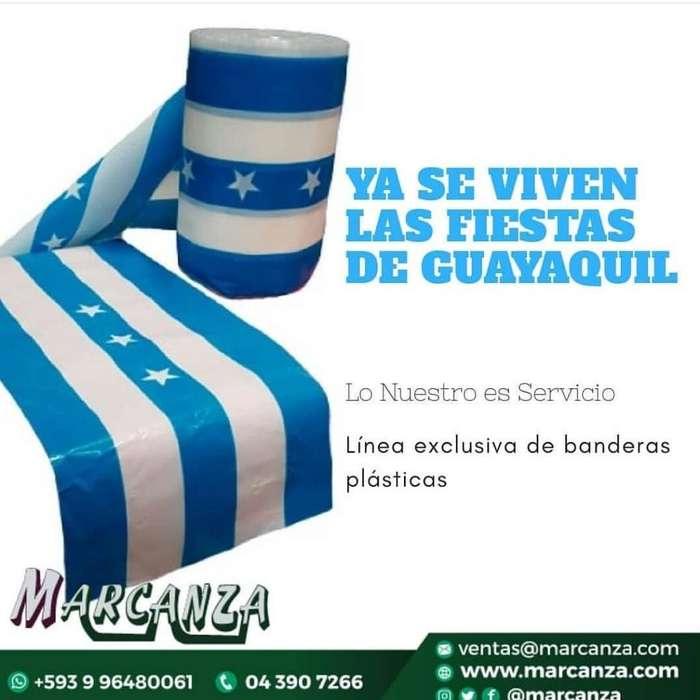 Bandera de Guayaquil Plástica