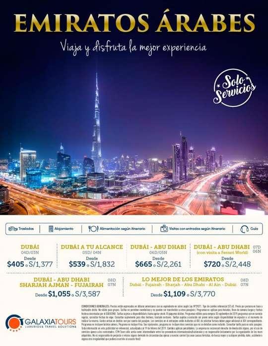 Emirates Arabes viaje desde Lima oferta