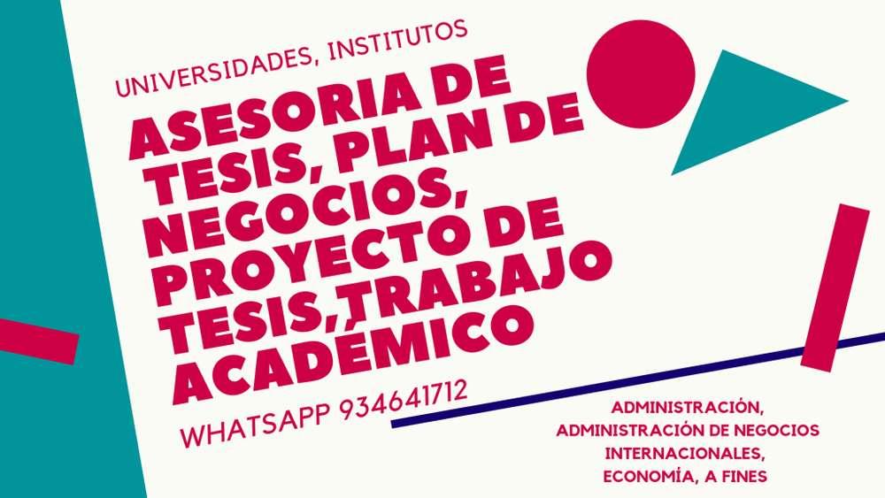 Acaba rápido - Asesoría para tesis- Desarrollo de trabajos de investigación- Planes de Negocio