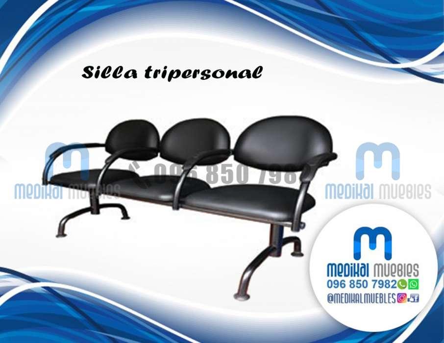 SILLA TRIPERSONAL, SILLA DE ESPERA