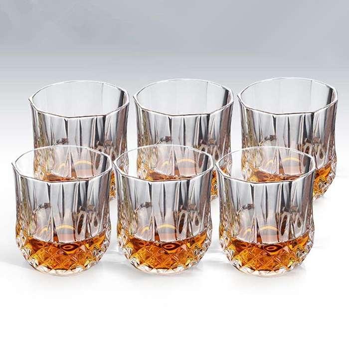 Set De 6 Vasos Diamante 200ml