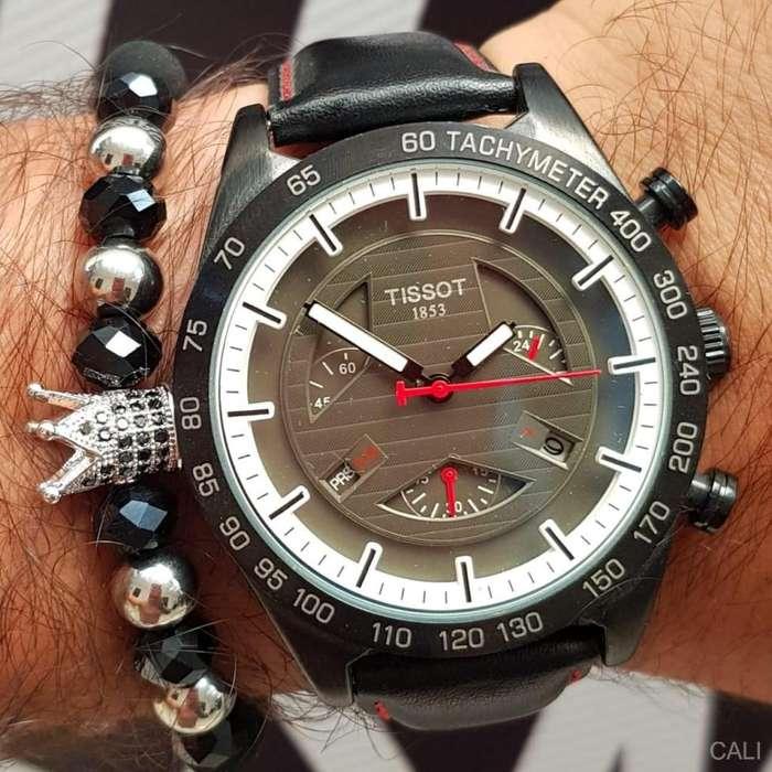 Reloj Tissot color negro y blanco para hombre