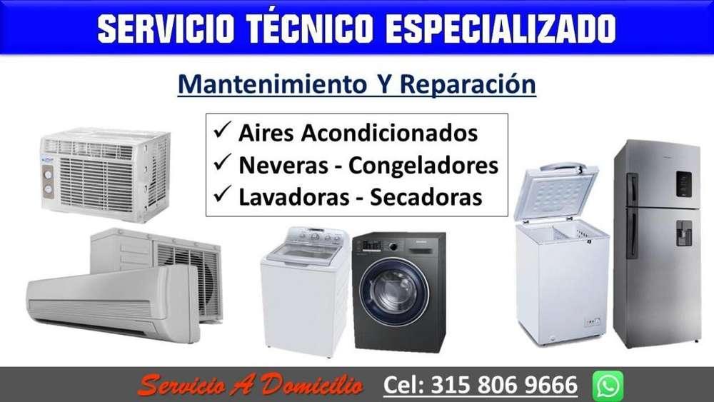 Arreglo y Mantenimiento de Neveras, Lavadoras, Aires acondicionados, congeladores. Bucaramanga. servicio técnico