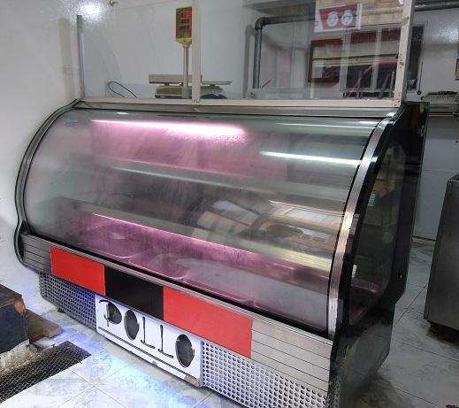 Ganga -barata vendo nevera mostrador panorámica en acero inoxidable de 5 bandejas
