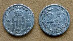 Moneda de 10 öre de plata Suecia 1890