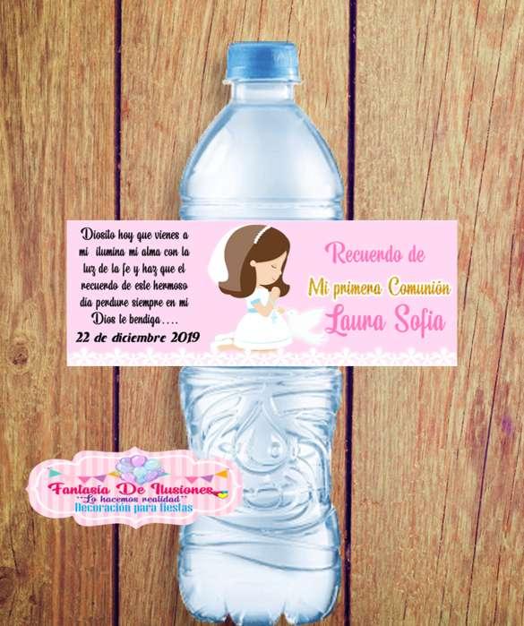 stickers para botellitas de agua