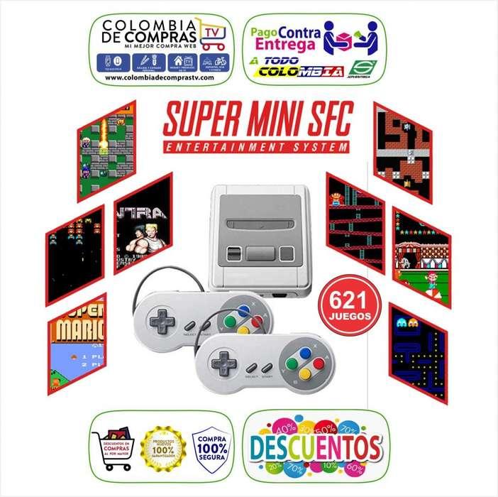 Miniconsola SFC Videojuegos 621 Retro Colección Nuevo Original Garantizado.