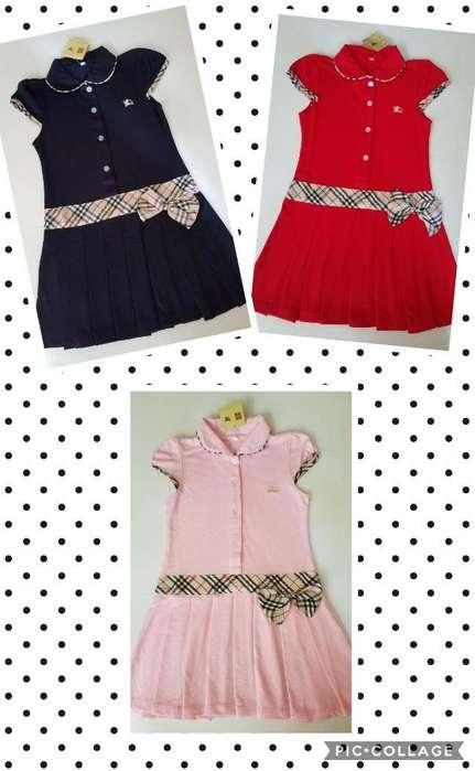 Vestidos Polo para Niña 6t Marca Burberry Nuevos Diferenets Colores y Tallas