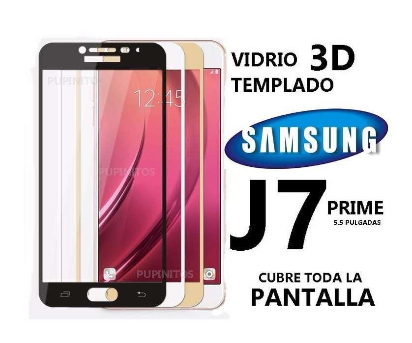 Vidrio Templado 3d Full Cover Samsung J7 Prime Cubre Todo