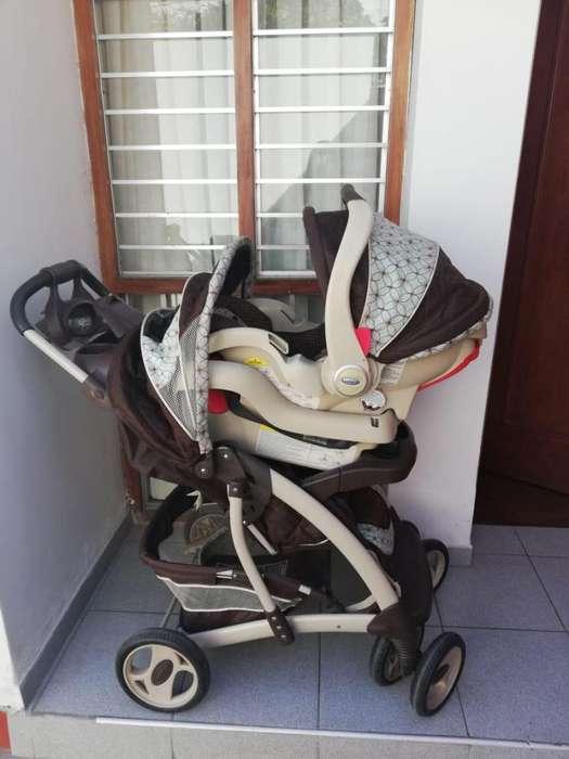 Remato!!! Coche Y Asiento De Auto Para Bebé Marca GRACO