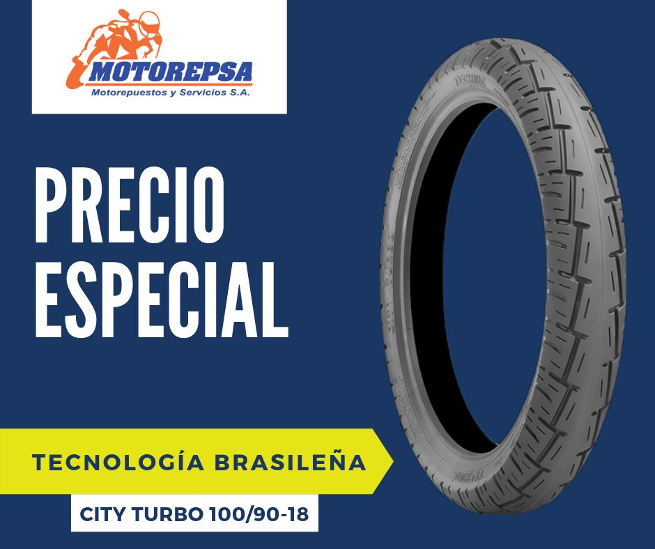 Llanta TECHNIC City Turbo 100/90 18 para Moto YAMAHA/HONDA CG125, CBX 150 y 200