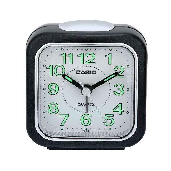 Reloj Despertador Casio Tq142 Análogo Neón Mesa
