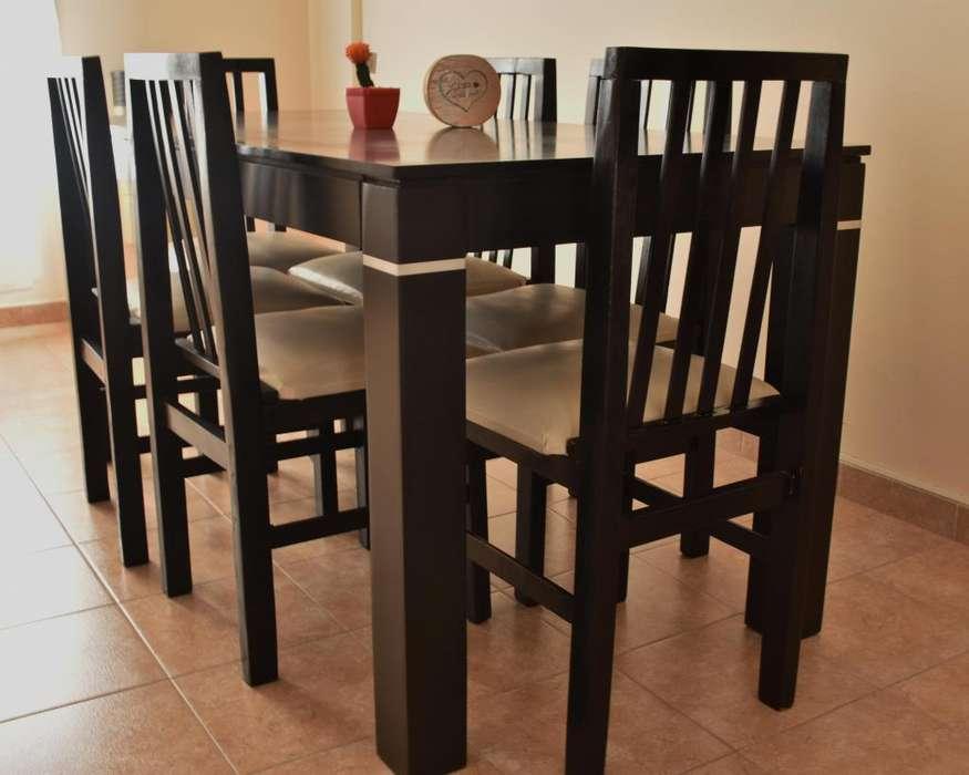 Juego de <strong>comedor</strong> (mesa 6 sillas)