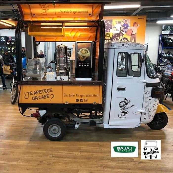 Se vende motocarro 3 ruedas adaptada a cafetería