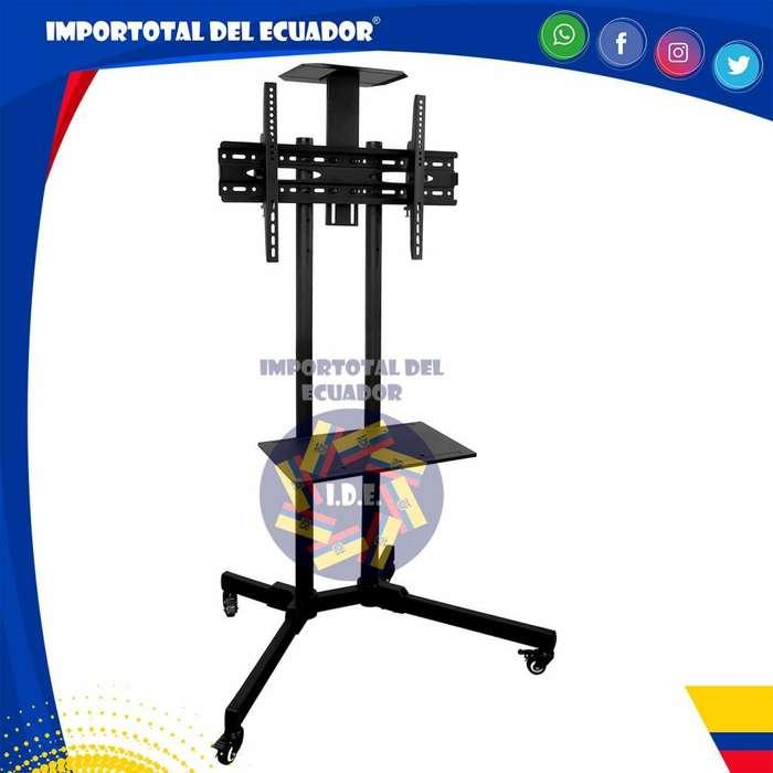 Soporte de tv plana ''nuevo'' para piso / 4 ruedas y columna doble tubo / tv's desde 37 a 70 pulgadas / 132 libras