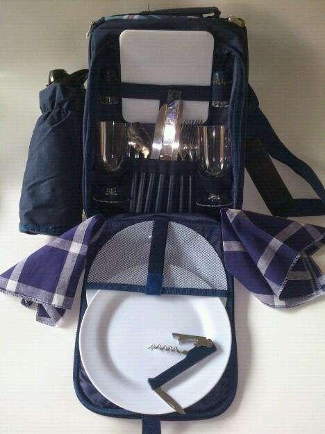 Kits de Picnic Color Azul Y Café