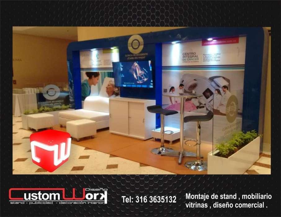 Alquiler Stand para Eventos- Alquiler de stand- Diseño Interiores-stand portatil-stand islas