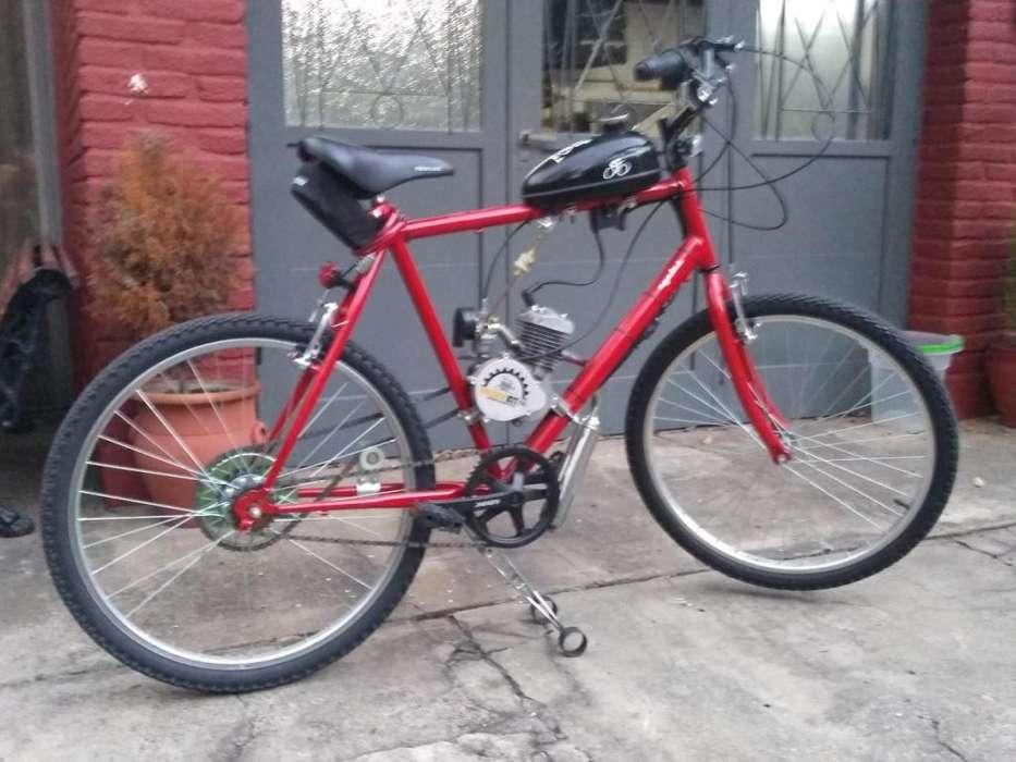 e1fa23f5d82 Bicimoto 80 CC Nueva Cuadro Hombre Rojo Con Luces, caballete reforzado.