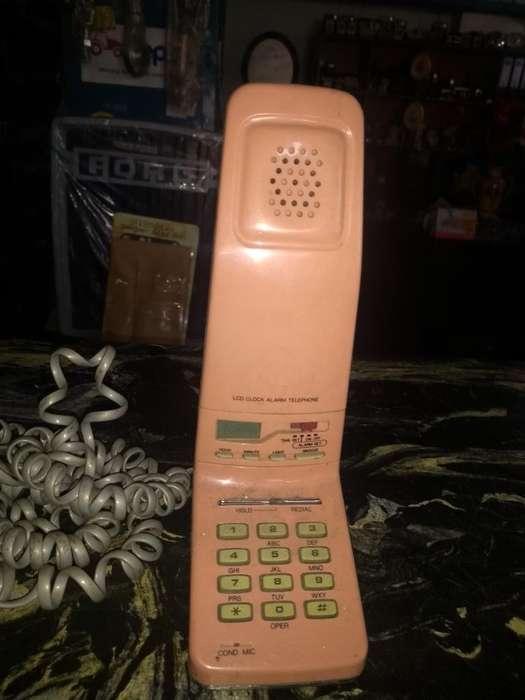 Teléfono Rosado Semi Inalámbrico