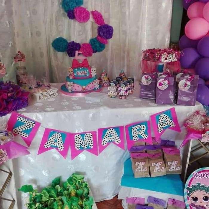 mesas de dulces y pintacaritas