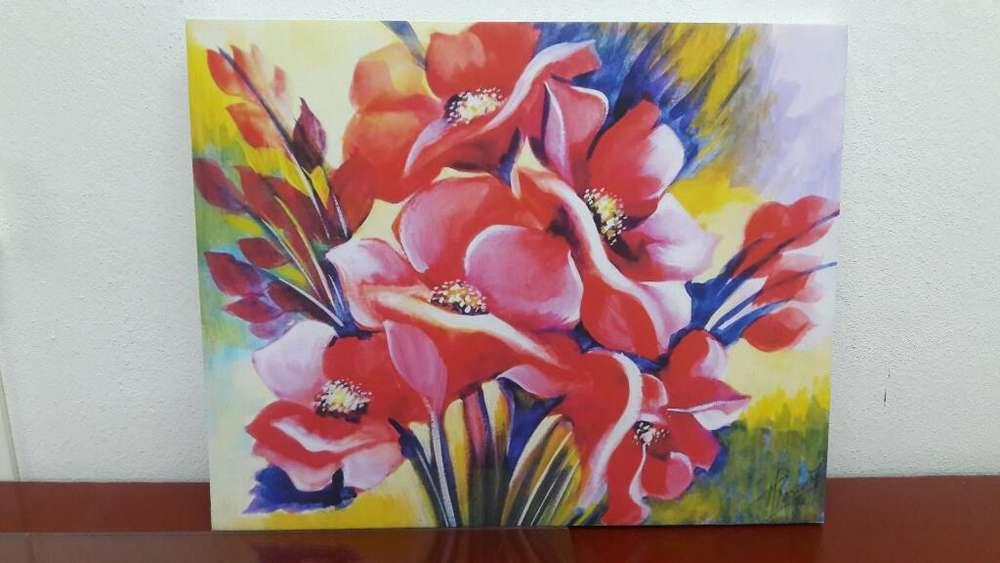 Cuadro Personalizado Flores Acuarela