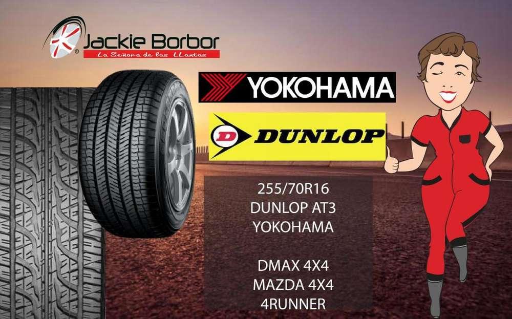 Llanta 255/70R16 rin16 r16 DUNLOP YOKOHAMA chevrolet dmax 4x4 mazda bt50 4x4 toyota 4runner hyundai terracan