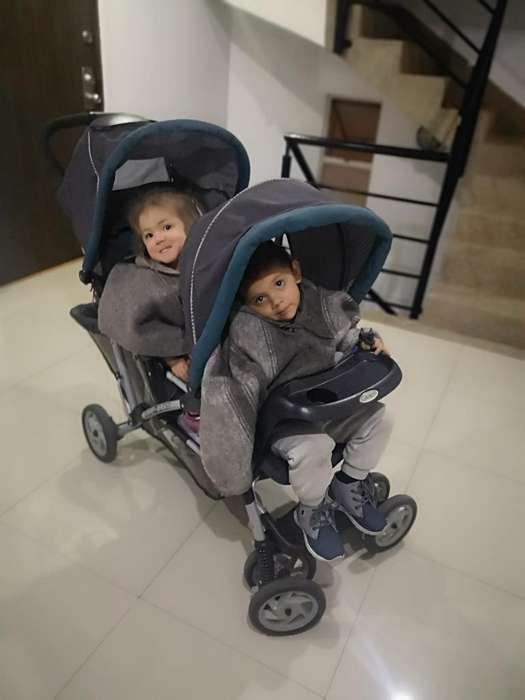 Coche Doble Hermanitos Seguidos/gemelos
