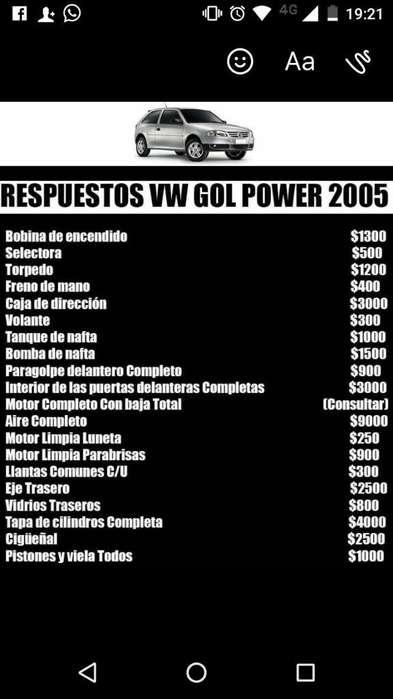 Repuestos Vw Gol Power 2005. Hay Mas!
