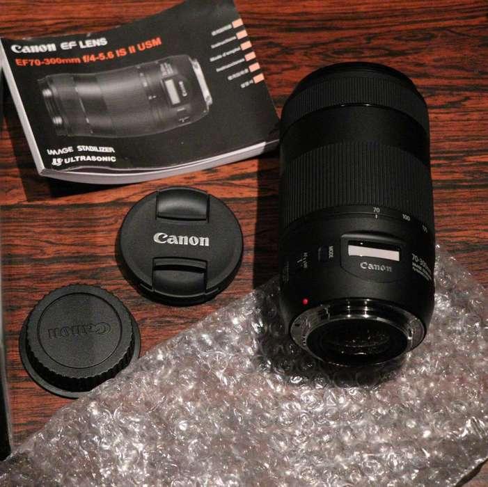 LENTE CANON EF 70-300mm f/4-5.6 IS II USM. NUEVO (SIN USO)