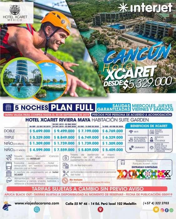 Viaje a Cancún con Viajes la Corona 5 Noches H. XCARET 2019