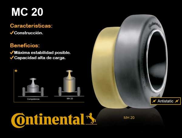 BANDAJE CONTINENTAL MC 20 LISOS Rodamarsa AUTOELEVADORES