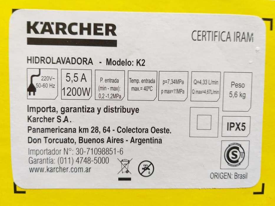 Hidrolavadora KARCHER K2 Home Kit NUEVA origen Brasil