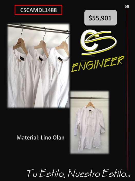 Camisa en Lino OLAN color Blanco para Dama