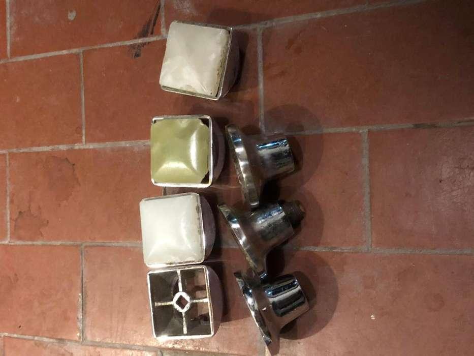 <strong>juego</strong> de 3 volantes y 3 campanas vintage para canilla