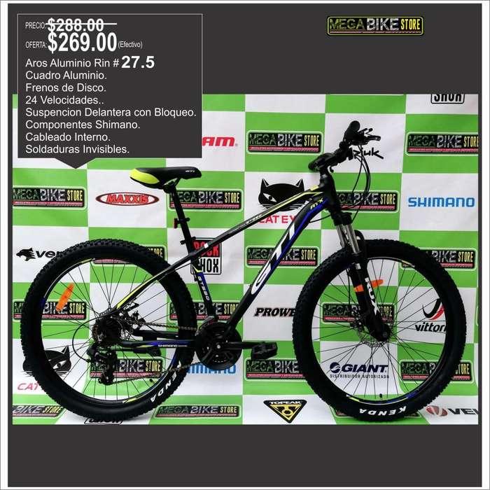 guayas remate pocas unidades marca bicicleta GTI Rin Aro 27.5 , cambios SHIMANO , Suspencion BLoqueo . ciudad o montaña