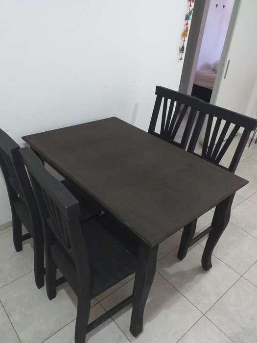 Mesa Y <strong>silla</strong>s de Pino Pintadas