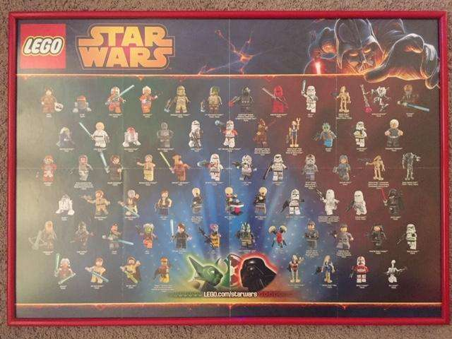Poster Star Wars hecho cuadro.