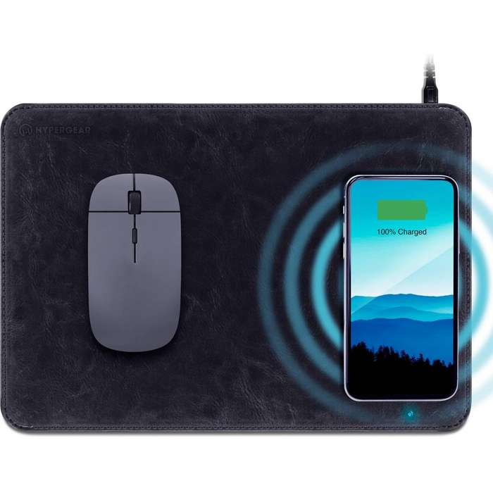 Mouse Pad HyperGear Wireless Charging Negro