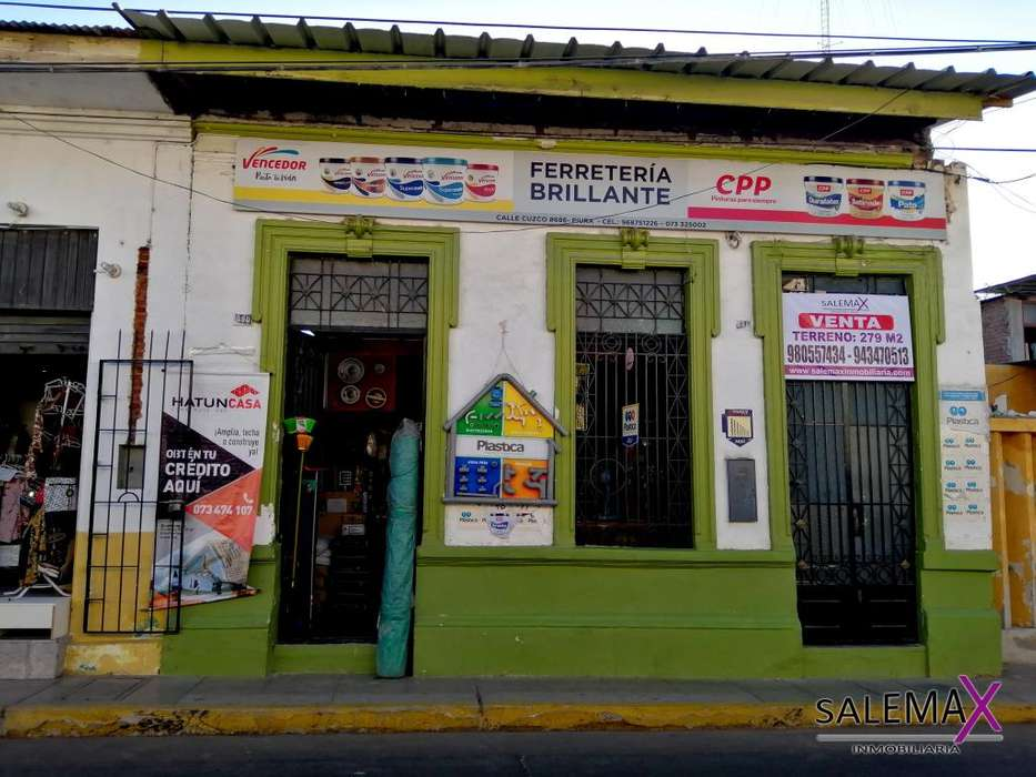 VENTA DE LOCAL COMO TERRENO – CALLE CUSCO - PIURA.