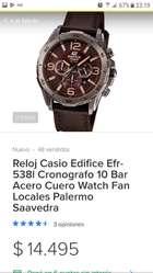Hermoso Reloj Casio Edifice Cuero