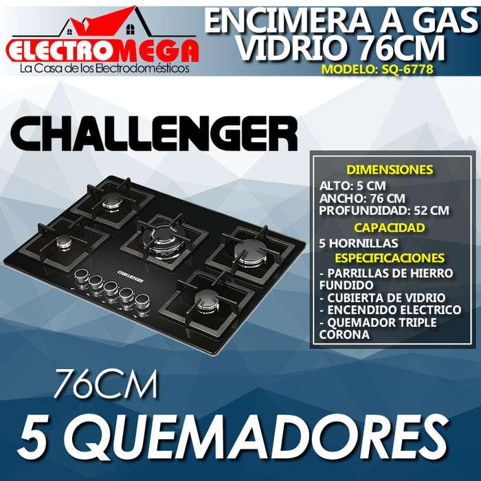 Encimera A Gas Challenger 5 Quemadores 76 Cm Nueva Sq 6778