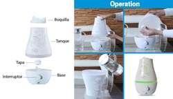 Difusor Lámpara Aroma 2.2 Litros Decorativo Colores Humidificador, Nuevos, Originales, Garantizados