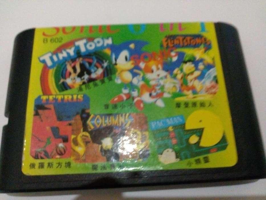 Cartucho de Sega 6 en 1
