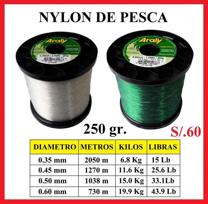 Nylon 250 gr Para Pescar Monofilamento Pesca Sedal