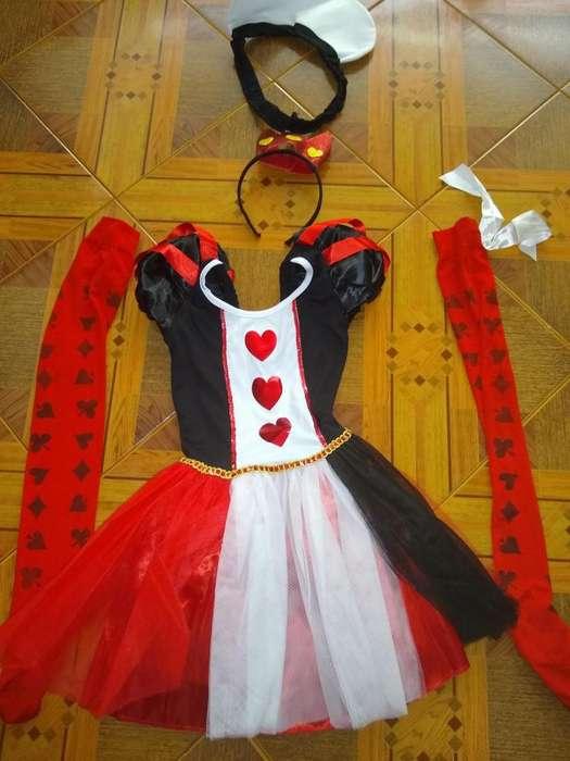 Disfraz de Reyna de Corazones