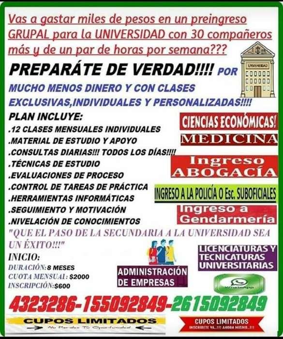 PREUNIVERSITARIO,TODAS LAS CARRERAS,INGRESOS,TECNICATURAS U.N.C.