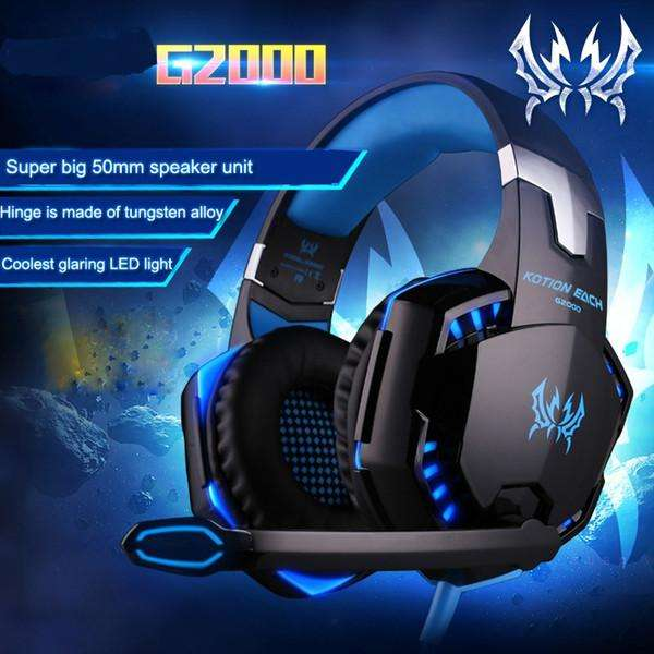 Auricular Gamer Gaming G2000 Kotion Each Pc Cel Tablet Ps4