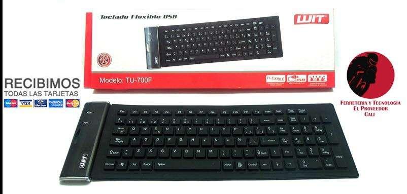 teclado plastico enrollable