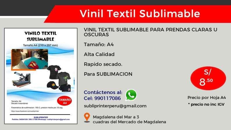 Vinil Textil Sublimable